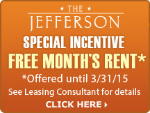 The Jefferson - Special Incentive - Free Month's Rent