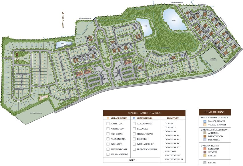 Traditions at Chesterfield Garden Homes Siteplan