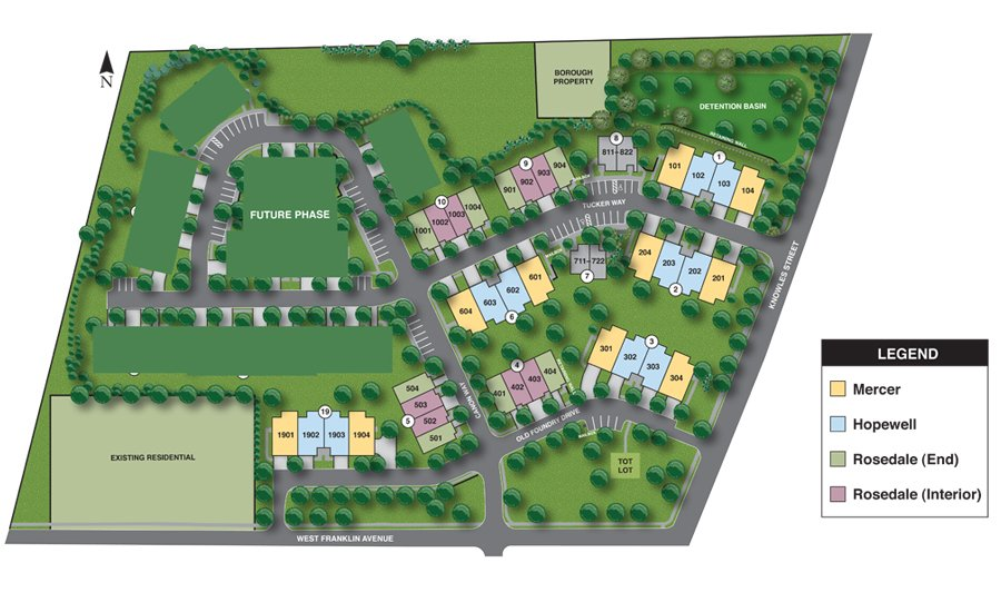 Heritage at Pennington Siteplan